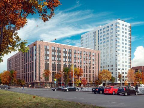 Продажа двухкомнатная квартира 55.50м2 в ЖК Квартал Новаторов секция в - Фото 3