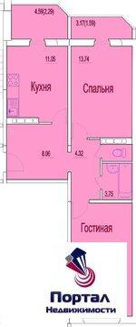 2-ух комнатная квартира в новостройке, мкрн. Ивановские Дворики - Фото 2