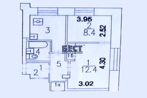Двухкомнатная Квартира Москва, переулок Юрьевский, д.22, корп.1, ЮВАО . - Фото 1