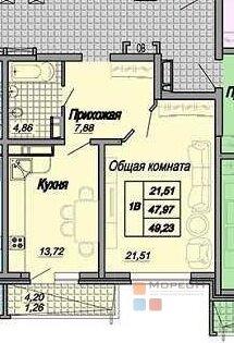 2 600 000 Руб., 1 к в сданном доме на Морская 43, Купить квартиру в Краснодаре по недорогой цене, ID объекта - 317931860 - Фото 1