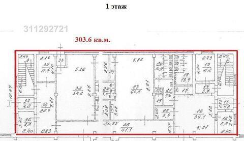 Помещение свободного назначения 1 этаж – 303.6 кв.м, арендная - Фото 1