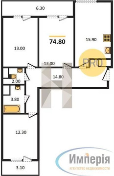 Объявление №60972221: Продаю 3 комн. квартиру. Санкт-Петербург, ул. Глухарская,