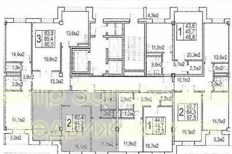 Двухкомнатная Квартира Москва, улица Озерная , д.9, стр.2, ЮЗАО - . - Фото 3