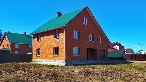 Капитальный дом с коммуникациями под ключ, п.Заокский, 100км от МКАД - Фото 1