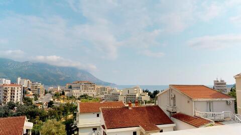 Квартира без мебели с видом на море в курорте г. Бечичи, Черногория - Фото 3