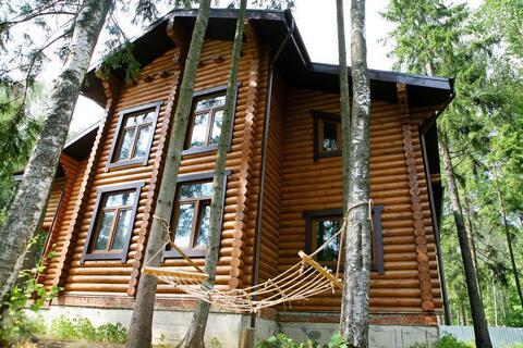 Загородный дом из бревна в лесу, Киевское ш, 28 км от МКАД - Фото 1