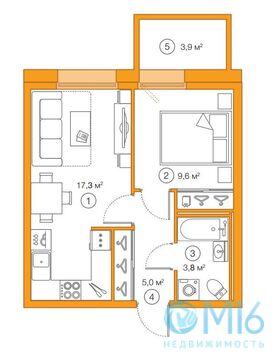 Продажа 1-комнатной квартиры, 35.74 м2 - Фото 2