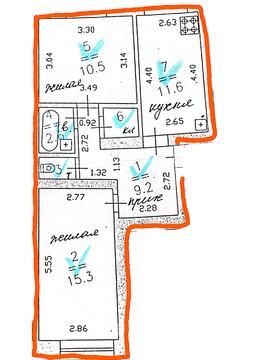 Продажа 2к.кв. на ул. Гордеевская, 14. Дом кирпичный, 2000г. постройки - Фото 4