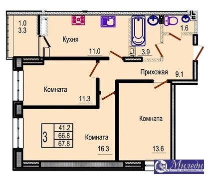 Объявление №61450081: Квартира 3 комн. Батайск, Крупской улица, 1005,