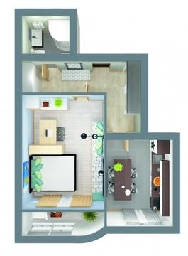 Продаю 1-комнатную квартиру в мкр.Веризино, д.12 Флагман - Фото 3