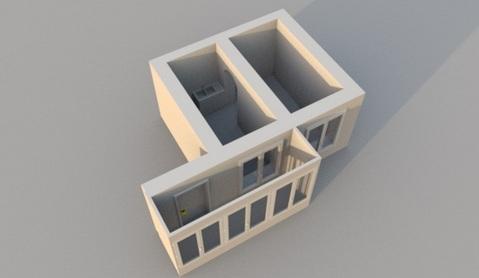 Две комнаты по адресу ул. Ак. Королёва 11 - Фото 3