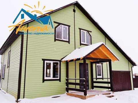 Продается дом с газом и гаражом на берегу озера в Жуковском районе - Фото 1