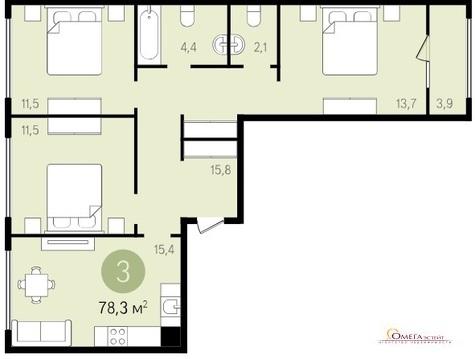 Продам 3-к квартиру, Видное Город, - Фото 3