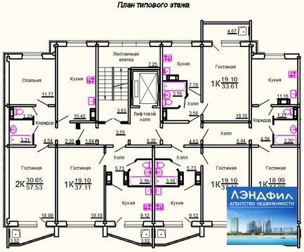 1 комнатная квартира улучшенной планировки, Тархова, 27 в - Фото 2