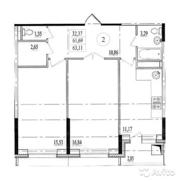 2-комнатная квартира в новом ЖК - Фото 3