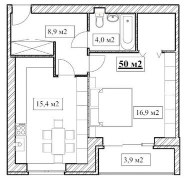 Продам 1-ю квартиру 50 кв.м. в Новостройке - Фото 4