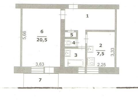 Продажа однокомнатной квартиры на улице Костюкова, 36 в Белгороде, Купить квартиру в Белгороде по недорогой цене, ID объекта - 319752184 - Фото 1
