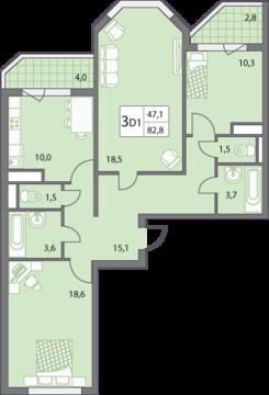 Продаю трёхкомнатную квартиру в микрорайоне Правобережье. - Фото 3