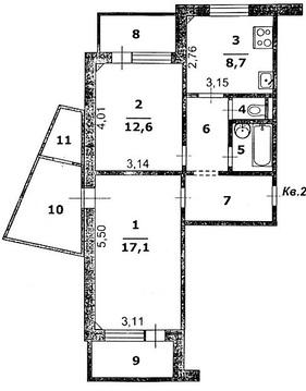 Двухкомнатная квартира с ремонтом и мебелью в районе сити молла - Фото 3