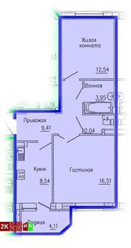 2 683 700 Руб., Продажа двухкомнатная квартира 57.10м2 в ЖК Кольцовский дворик дом 1. ., Купить квартиру в Екатеринбурге по недорогой цене, ID объекта - 315127586 - Фото 1