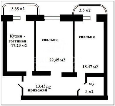 Продам 2-комн. квартиру, Восточный, Малая Боровская, 28 к 1 - Фото 4