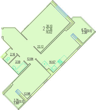 Продается отличная 2-х комнатная квартира - Фото 2