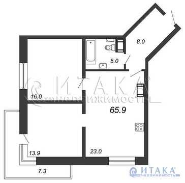 Продажа квартиры, м. Ломоносовская, Русановская ул
