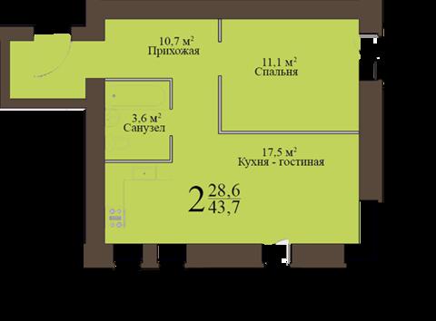 """В продаже двушка с европланировкаой в """"Экоквартале"""" - Фото 2"""