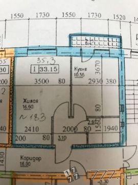 ЖК Мозайка. 1-комн. 36 кв.м.4/5 этаж Стяжка, штукатурка. Инд отопление - Фото 1
