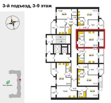 ЖК«Дуброва Парк», Владимир, Верхняя Дуброва ул, д.32в, Квартира на . - Фото 2