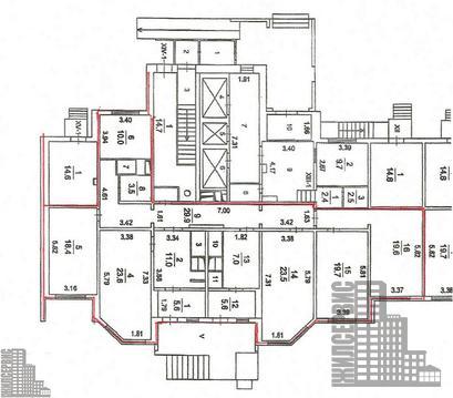 Псн 179,2м в жилом 25-этажном доме Борисовка ул, Мытищи, трц Июнь - Фото 3