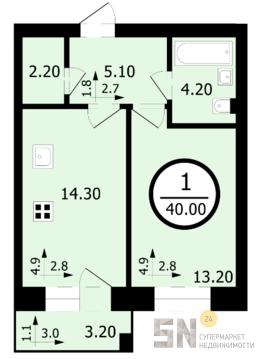 2 680 000 Руб., 1-ком в сданном доме, Купить квартиру в новостройке от застройщика в Владимире, ID объекта - 325065162 - Фото 1