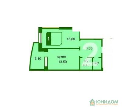 1 комнатная квартира, ул. Бориса Житкова - Фото 2