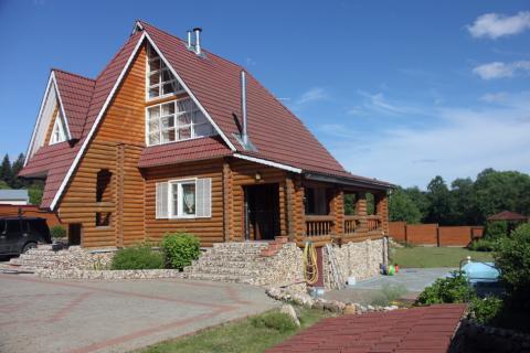 Готовый дом из бревна под ключ с бассейном в деревне Былово. - Фото 1