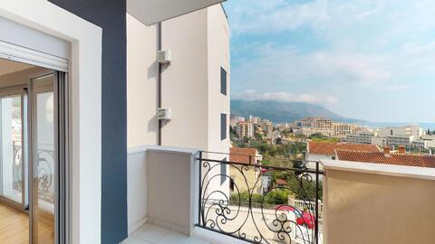 Квартира без мебели с видом на море в курорте г. Бечичи, Черногория - Фото 2