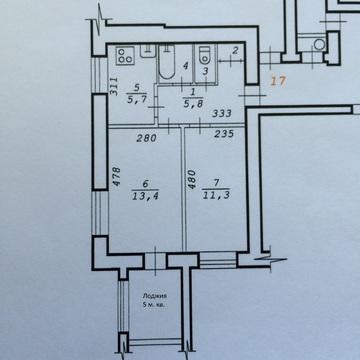 Сдам комнату 11 м.кв. в двухкомнатной, изолированной квартире в кирпич - Фото 1