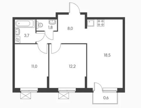 Объявление №50046274: Квартира 2 комн. Обнинск, ул. Курчатова, к3,