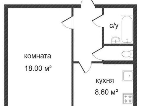Продажа однокомнатной квартиры на Воинском переулке, 6 в Калуге, Купить квартиру в Калуге по недорогой цене, ID объекта - 319812467 - Фото 1