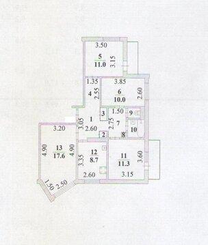 Четырехкомнатная квартира: г.Липецк, Депутатская улица, д.54 - Фото 2