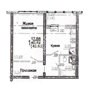 Объявление №49951926: Квартира 1 комн. Курск, Дружбы пр-кт., 19г,