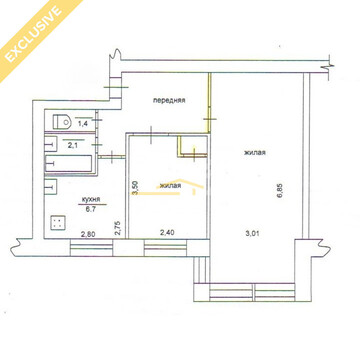 Продажа 2-к квартиры на 3/5 этаже на Октябрьском пр, д. 63 - Фото 2