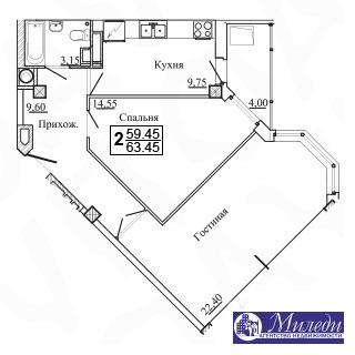 Объявление №61449933: Квартира 2 комн. Батайск, ул. Огородняя, 1005,