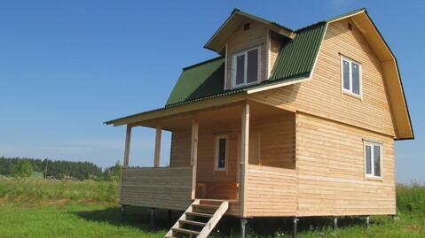 Брусовой дом 60кв.м. на участке 38 соток в д.Скрипово, Заокский р-он - Фото 3