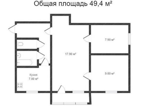 2 350 000 Руб., Продажа трехкомнатной квартиры на улице Маршала Жукова, 13 в Калуге, Купить квартиру в Калуге по недорогой цене, ID объекта - 319812320 - Фото 1