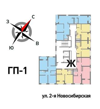 Продажа однокомнатная квартира 36.35м2 в ЖК Солнечный гп-1, секция ж - Фото 2