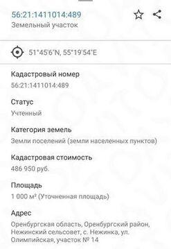 Продажа участка, Нежинка, Оренбургский район, Набережная улица - Фото 2
