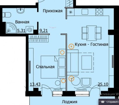 Продажа 2-комнатной квартиры, 57.07 м2, Тургенева, д. 30 - Фото 3