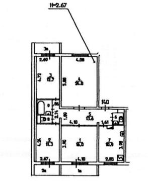 Продам четырехкомнатную квартиру в Жулебино - Фото 1