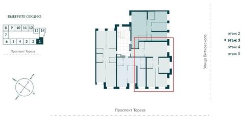 Продается трехкомнатная квартира комфорт-класса в парке Сосновка - Фото 2
