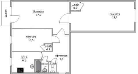 3-комн. кв. Советская, 37, - Фото 1